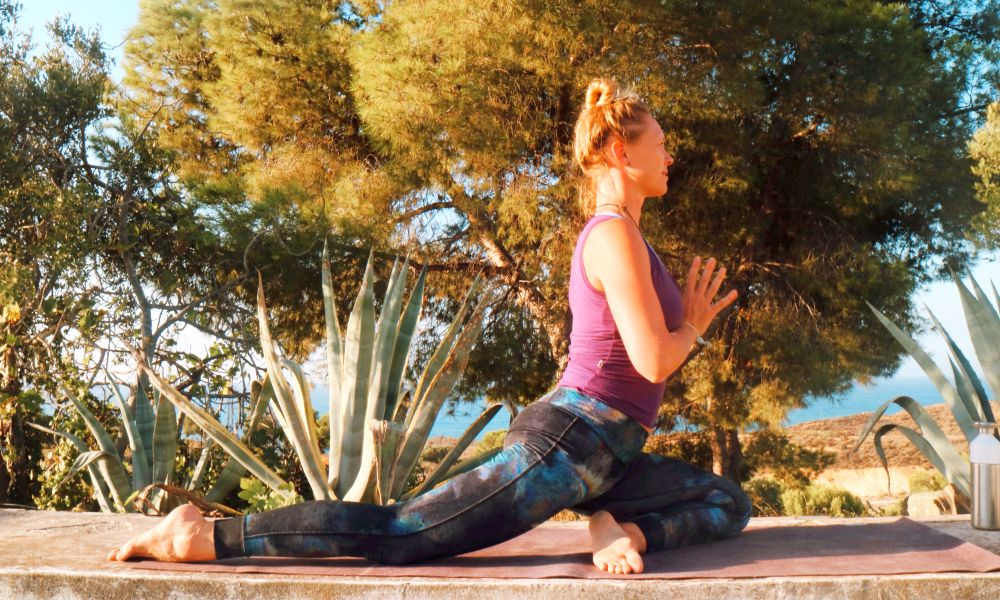 Yin yoga in Griekenland