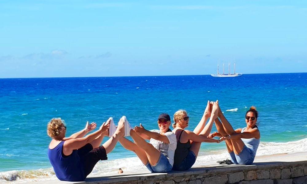 yoga retraite op een zeilschip in Griekenland