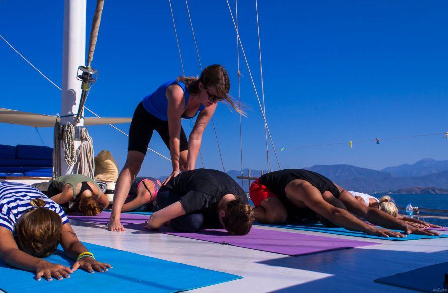 yoga aan boord