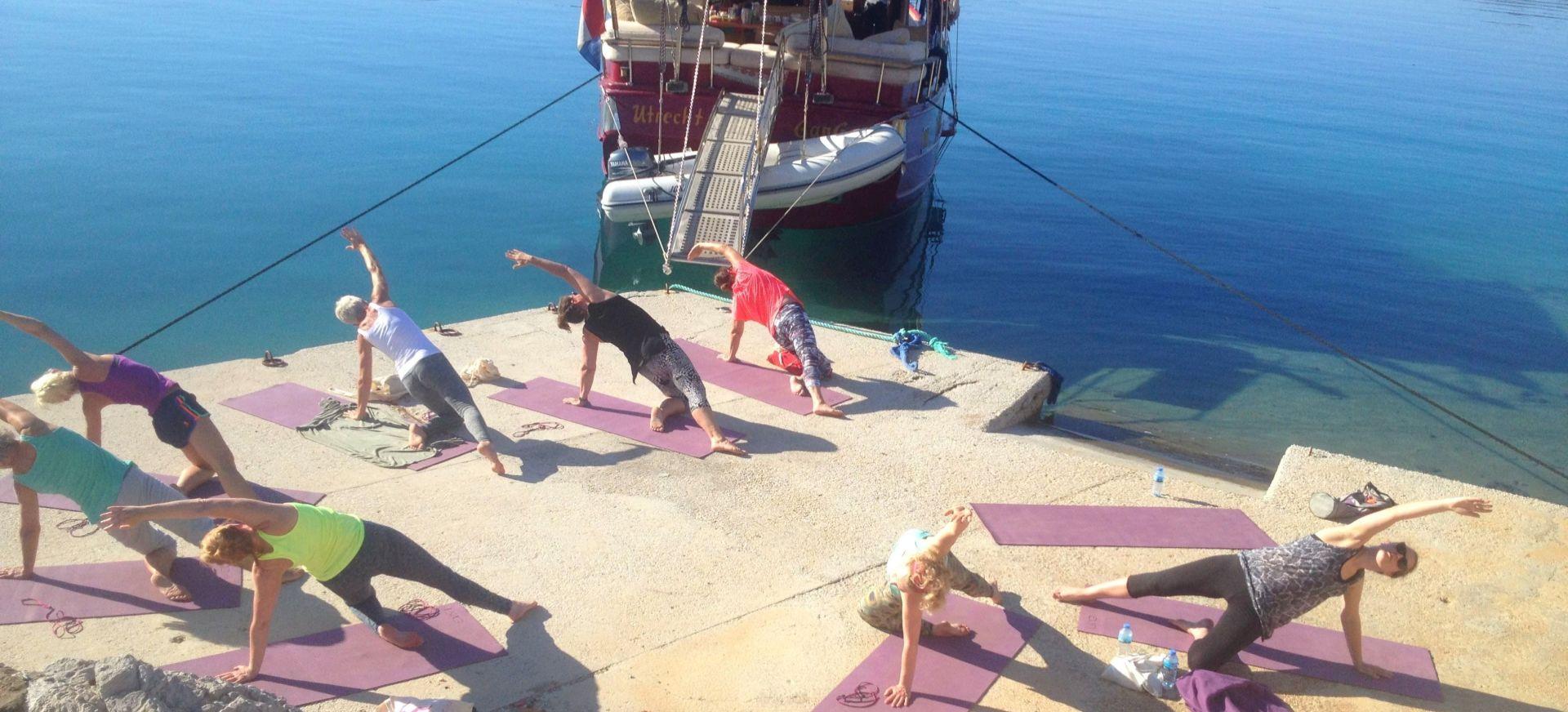 Zeilen en yoga
